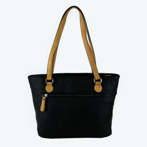 Giani Bernini Bags - GIANI BERNINI Black Faux Leather Tote Bag$99.00